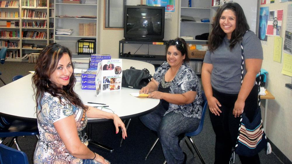 Teacher with parent and student - Back to School Night